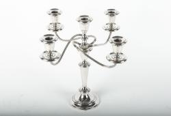 Vintage Sterling Silver Five Arms Candelabra