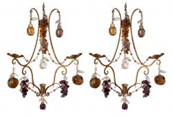 Wall Sconces, Pair
