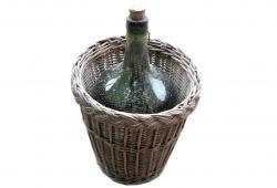 Wine Bottle and Basket