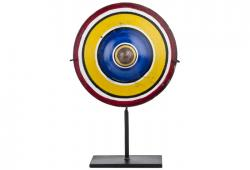 Vintage  Hand-painted Wood Spinning Top On Stand