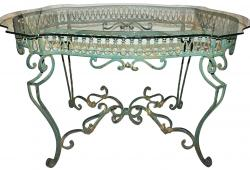 Wrought-Steel Dining Table
