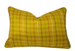 Yellow Silk Kantha Lumber Pillow