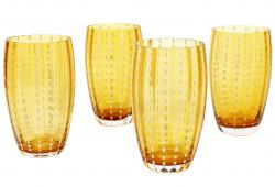 Zafferano Perle Amber Large Tumblers, Set of 4
