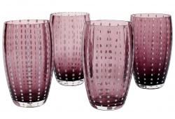 Zafferano Perle Amethyst Large Tumblers, Set of 4