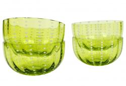 Zafferano Perle Apple Green Bowls, Set of 4