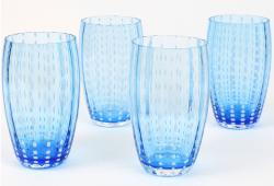 Zafferano Perle Aquamarine Large Tumblers, Set of 4