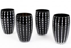Zafferano Perle Black Large Tumblers, Set of 4