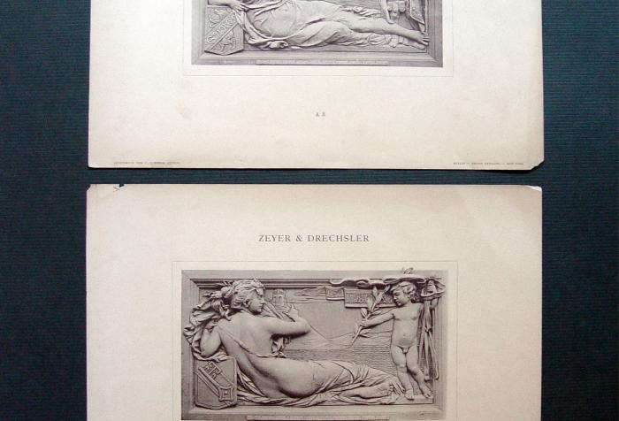 1890's Art Nouveau Allegorical Figures - Set of 2