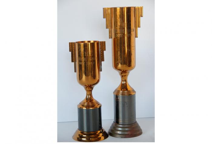 1940s Equestrian Trophy Cups, Pair