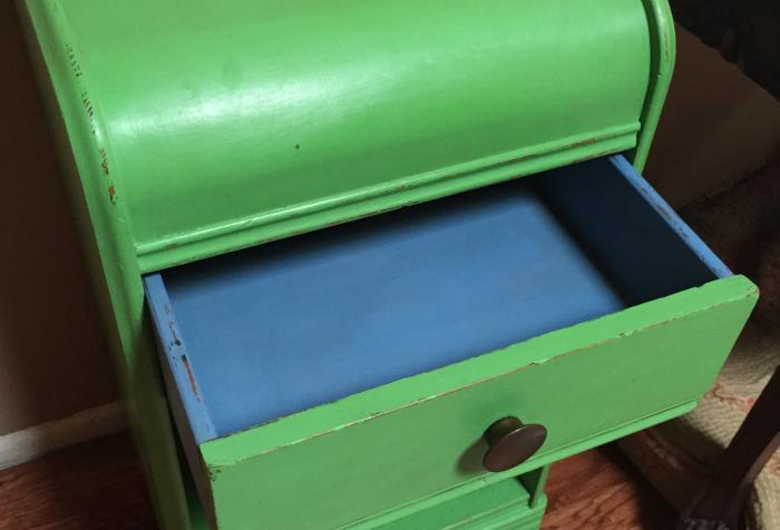 1940s Green Side Table