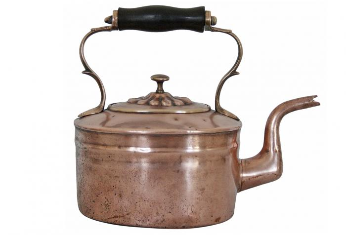 19th-C. English Copper Tea Kettle