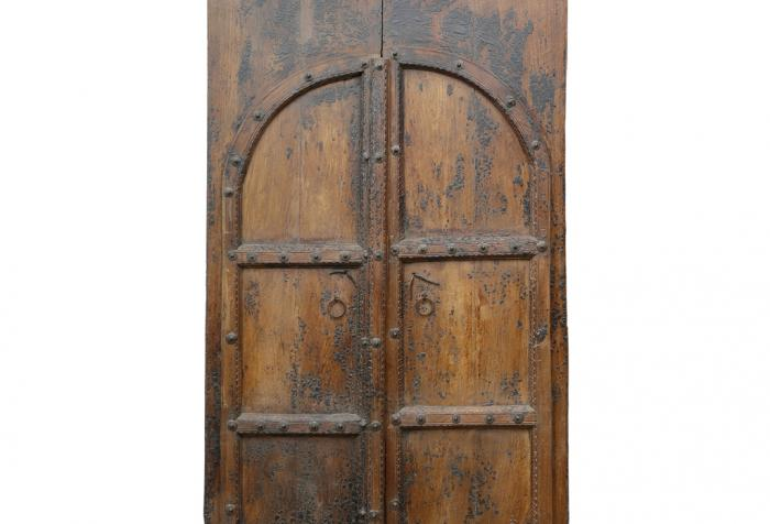 Tall Arched Antique Spanish Entrance Doors, Pair - Tall Arched Antique Spanish Entrance Doors, Pair Omero Home