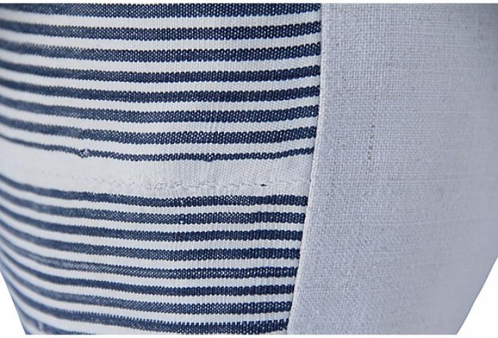 Mali Ticking Stripe & Linen Pillow