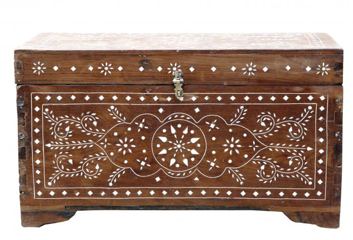 Anglo Indian Floral Bone Inlaid Box II