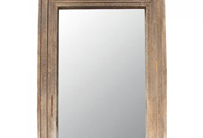 Antique architectural hand carved door frame mirror for Mirror frame styles