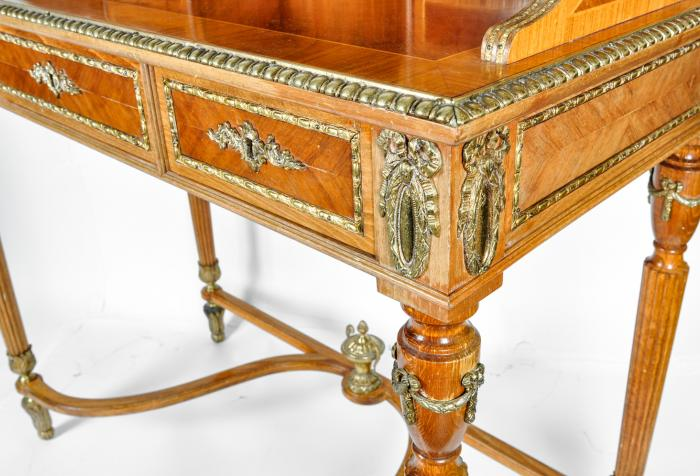 Antique French Louis XV Style Satinwood Writing Desk