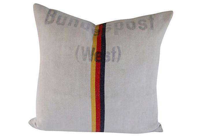 Antique German Linen Pillow