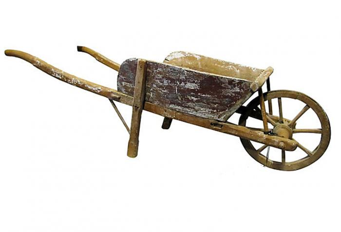 antique mini french wheelbarrow omero home