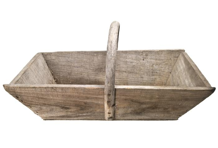A Charming French Wood Gardening  Trug/Caddy