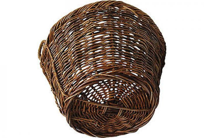 French Woven Willow Basket