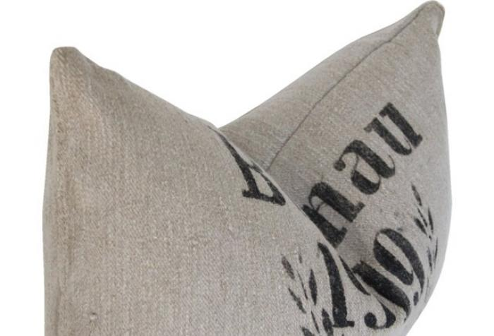German Grain Sack Linen Hemp Pillow