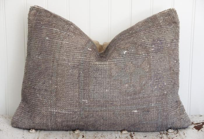 Gray Overdyed Kilim Pillow