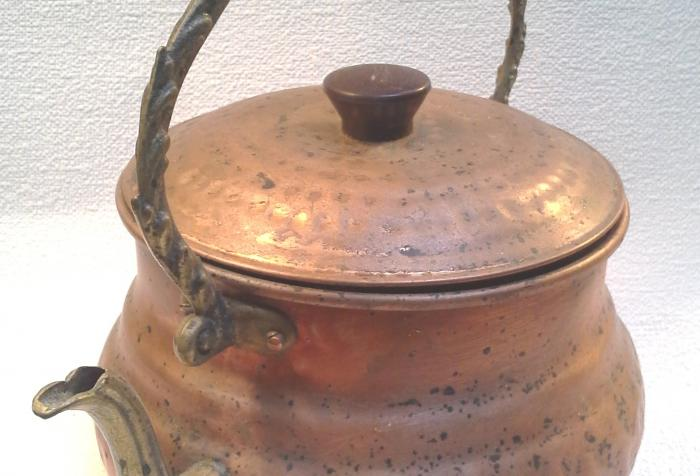 Hammered Copper Tea Pot