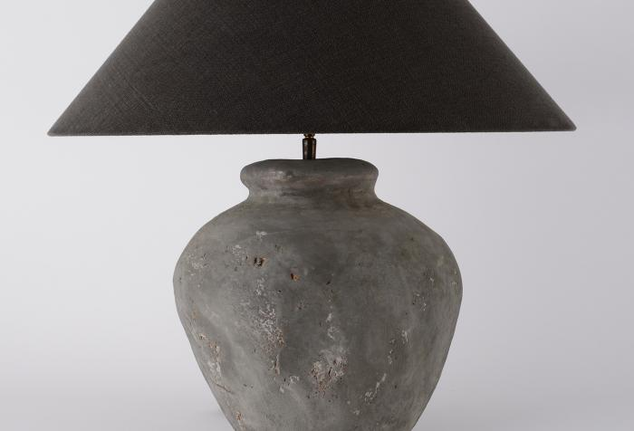 Custom Handmade Belgian Pottery Jar Lamp